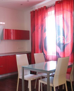 12 246x300 Советы по выбору кухонных занавесок.